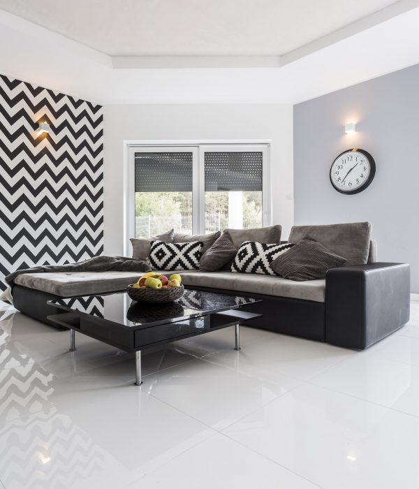 Polished white floor tiling in Edinburgh